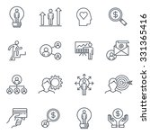 business and finance icon set... | Shutterstock .eps vector #331365416