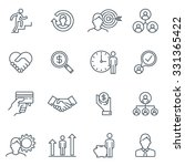 business and finance icon set... | Shutterstock .eps vector #331365422
