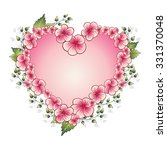 floral frame with heart. ... | Shutterstock .eps vector #331370048
