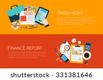 flat style set of web... | Shutterstock .eps vector #331381646