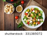 salad with chicken  mozzarella... | Shutterstock . vector #331385072