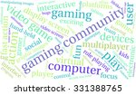 gaming community word cloud on... | Shutterstock .eps vector #331388765