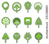 tree icon set | Shutterstock .eps vector #33138883
