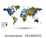 polygonal world map vector. | Shutterstock .eps vector #331406552