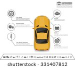 car auto service infographics... | Shutterstock .eps vector #331407812