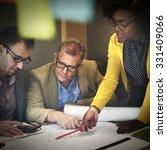 interior construction team... | Shutterstock . vector #331409066