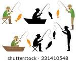 fishing vector illustration ... | Shutterstock .eps vector #331410548