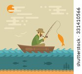 fishing vector illustration ... | Shutterstock .eps vector #331410566