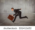 businessman running with a... | Shutterstock . vector #331411652