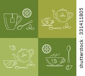 simple set of icons and symbols ... | Shutterstock .eps vector #331411805