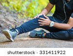 male athlete suffering from... | Shutterstock . vector #331411922
