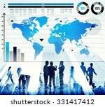 global business graph growth... | Shutterstock . vector #331417412