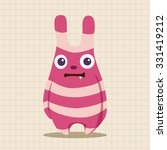 monster cartoon theme elements... | Shutterstock .eps vector #331419212