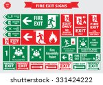 set of emergency exit sign ... | Shutterstock .eps vector #331424222