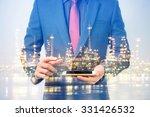 double exposure of businessmen... | Shutterstock . vector #331426532