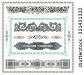 baroque set of vintage decor... | Shutterstock .eps vector #331431332