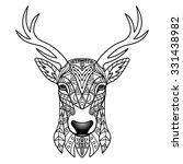 fantasy deer. vector... | Shutterstock .eps vector #331438982