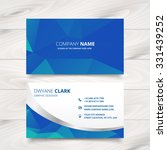 modern business card design in... | Shutterstock .eps vector #331439252