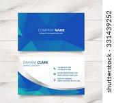 modern business card design in... | Shutterstock .eps vector #331439252