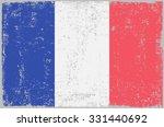 grunge france flag.french flag... | Shutterstock .eps vector #331440692
