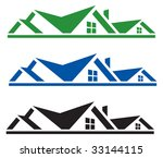 rooftop logo for design | Shutterstock .eps vector #33144115