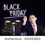 man draw black friday text.... | Shutterstock . vector #331441832