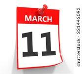 11 March Calendar Sheet With...