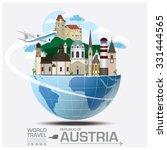 austria landmark global travel... | Shutterstock .eps vector #331444565