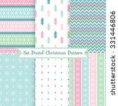 a set of seamless christmas... | Shutterstock .eps vector #331446806