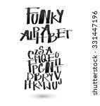 funky alphabet for your design. | Shutterstock .eps vector #331447196