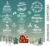 christmas decoration collection ... | Shutterstock .eps vector #331447262