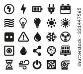 electric icons set on white... | Shutterstock .eps vector #331447565