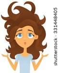bad hair day | Shutterstock .eps vector #331448405