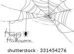 halloween borders on white... | Shutterstock .eps vector #331454276