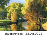 autumn park and a river | Shutterstock . vector #331460726