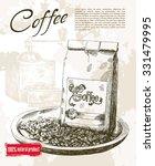 coffee beans. beautiful...   Shutterstock .eps vector #331479995