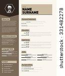 minimalist cv  resume template... | Shutterstock .eps vector #331482278
