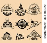 set of pizza labels and badges... | Shutterstock . vector #331483022