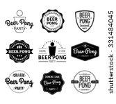 vector set icons beer pong | Shutterstock .eps vector #331484045