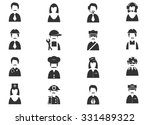 occupation icons | Shutterstock .eps vector #331489322