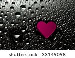 pink paper heart with drops | Shutterstock . vector #33149098