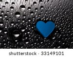 blue paper heart with drops | Shutterstock . vector #33149101