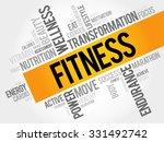 fitness word cloud  sport ...   Shutterstock .eps vector #331492742