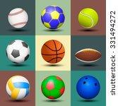 ball set isolated. vector... | Shutterstock .eps vector #331494272