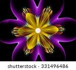 Fractal Flower. Fractal Art...