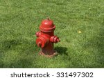 Bright Red Fire Hydrant On The...