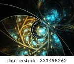 Abstract Fractal Leafy Pattern...