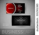 business card with big button....   Shutterstock .eps vector #331501385