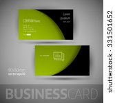 business card template with... | Shutterstock .eps vector #331501652