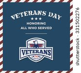 veterans day background and... | Shutterstock .eps vector #331502276